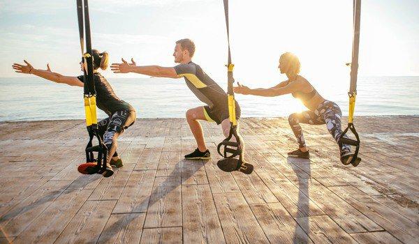 TRX тренировка для мужчин и женщин для похудения