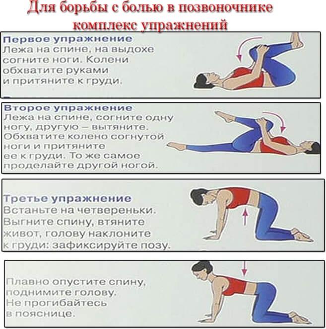 зарядка от боли в спине могли расписать немного